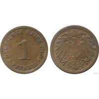 YS: Германия, Рейх, 1 пфенниг 1900D, KM# 10 (1)
