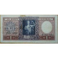 Аргентина 1 песо 1952 года
