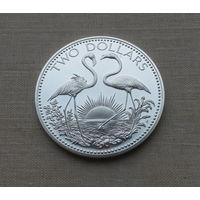 Багамские острова, 2 доллара 1974 г., серебро