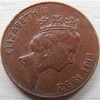 Фиджи 2 цента  1992 год