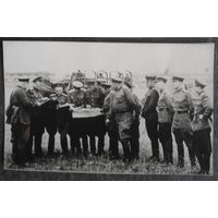 Фото. Постановка задачи на марш. 1940-е. Германия. 7х11 см.