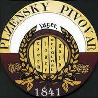 "Подставку под пиво "" Plzensky Pivovar""."