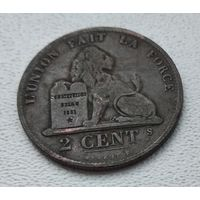 Бельгия 2 сантима, 1870 4-4-60