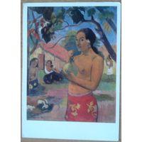 Гоген Поль.  Женщина, держащая плод. 1981 г.