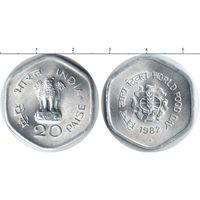 Индия 20 пайса 1982 FAO UNC