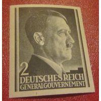 Рейх, Гитлер, Генерал-губернаторство, начало серии, беззубцовка, редкость