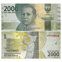 Индонезия. 2000 рупий 2016 г. UNC