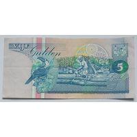 Суринам 5 гульденов 1995, XF, 239
