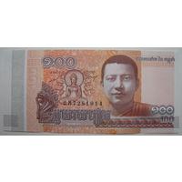 Камбоджа 100 риелей 2014 г.