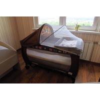 Кровать-манеж Caretero Grande + кокосовый матрас