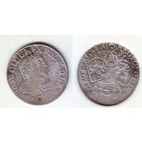6 грошей 1681г. Ян III Собеский. Аверс к реверсу повернут на 180 градусов
