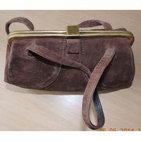 Женская сумочка ретро (60-ые годы, натуральный замш)