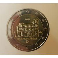 2 евро 2017 Германия А Рейнланд-Пфальц UNC