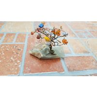 Оригинальная композиция Дерево из камня / для интерьера / высота 6 см
