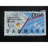 Дания 1989 морская карта