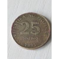 Филиппины 25 сентимо 1995г.