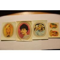 Переводные картинки, времён ГДР, 4 штуки, размер 11*9 см.