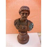Бюст римского императора Адриана, металл.