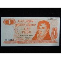 Аргентина 1 песо 1974г UNC