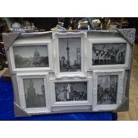 Рамка для фотографий Victor (53*35 см) на 6 фото 15*10 см.