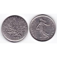 Франция 5 франков 1972