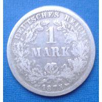 Германия 1 марка 1875 год F