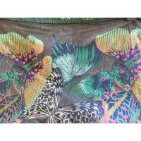 Парэо шаль палантин большого размера 185см х 115см Рисунок бабочки