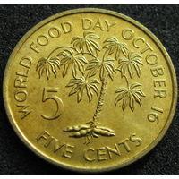 Сейшелы 5 центов 1981 КМ#43 ФАО холдер