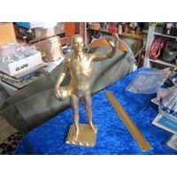 Ватерполист, силумин, 30 см. Скульптор Овсяников.