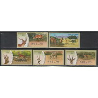 Израиль Олени 2011 год чистая полная серия из 5-ти автоматных марок