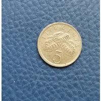 Сингапур. 5 центов 1988. Большая распродажа коллекции