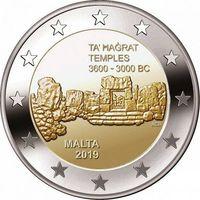 2 евро Мальта 2019 год (НОВИНКА) Та Хаджрат