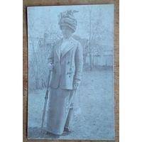 Фото женщины в шляпке. 1916 г. 9х14 см.