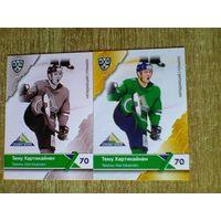 Тему Хартикайнен - 2 карточки 11 сезона КХЛ одним лотом.