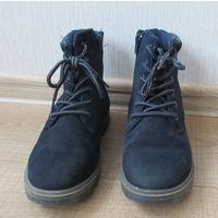 Ботинки для мальчика 35 размер, натуральная замша (демисезон)