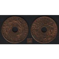 Индия(Голланская Ост-Индия) km317 1 цент 1945 год (P) (f33)
