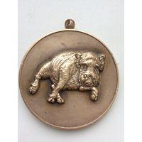 Медаль СПМД 2007 кабан/свинья БОЛЬШАЯ редкость!