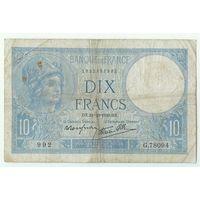 Франция, 10 франков 1940 год.
