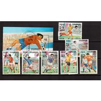 Камбоджа-1985,(Мих.632-635,Бл.142) гаш., Спорт,футбол