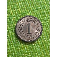 Маврикий 1 цент 1955 г