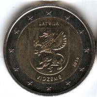 "Латвия 2 евро ""VIDZEME"""