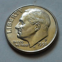 10 центов (дайм) США 1998 P