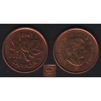 Канада _km490 1 цент 2006 год km490a магнит (L) (f32)