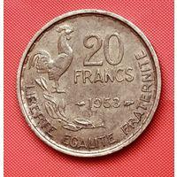 21-09 Франция, 20 франков 1953 г.