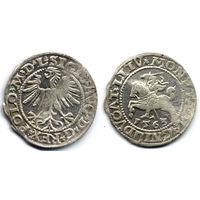 Полугрош 1563, Жигимонт Август, Вильно. Ав - 'D G' в легенде, оокнчание легенд: Av - L, Рв - LITV. Редкий вариант, RR!