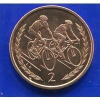 Остров Мэн 2 пенса 1998 , UNC , Велоспорт