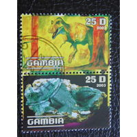 Гамбия 2003г. Фауна. Динозавр. Камни.