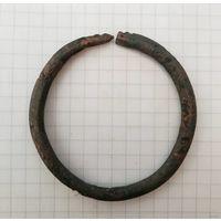 Зооморфный змеевидный браслет, бронза, домонгол - с рубля без МПЦ!