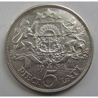 1931 г. 5 лат. Серебро. #2