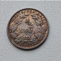"""Германия 1/2 марки, 1915 """"E"""" - Мульденхюттен 7-10-31"""